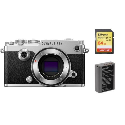 OLYMPUS PEN-F Body Silver + SanDisk Extreme 64G SD+BLN-1G Battery