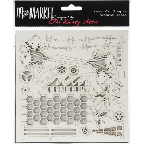 """49 And Market Archival Chipboard 6""""X6""""-Great Outdoors"""