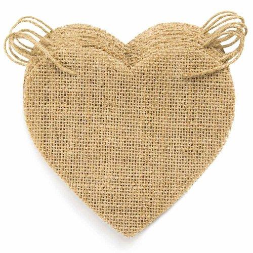 15pc ThxToms DIY Burlap Heart Banner