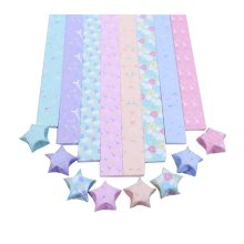 8 Colors Origami Stars Folding Paper Pack of 800 Sheets