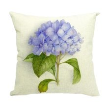 Home Cotton Linen Pillow Case Country Style Flower Pattern Pillow Cover,No.6