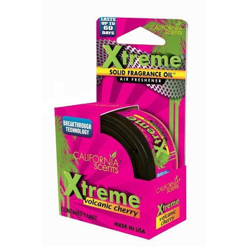 California Xtreme Scents EXTM-CAN-B607 Volcanic Cherry, Set of 6, Long Lasting Refreshing Fragrance, Environmentally Friendly, Light Weight Organic...
