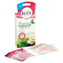 Veet Face Wax Strips Naturals - Pack of 20