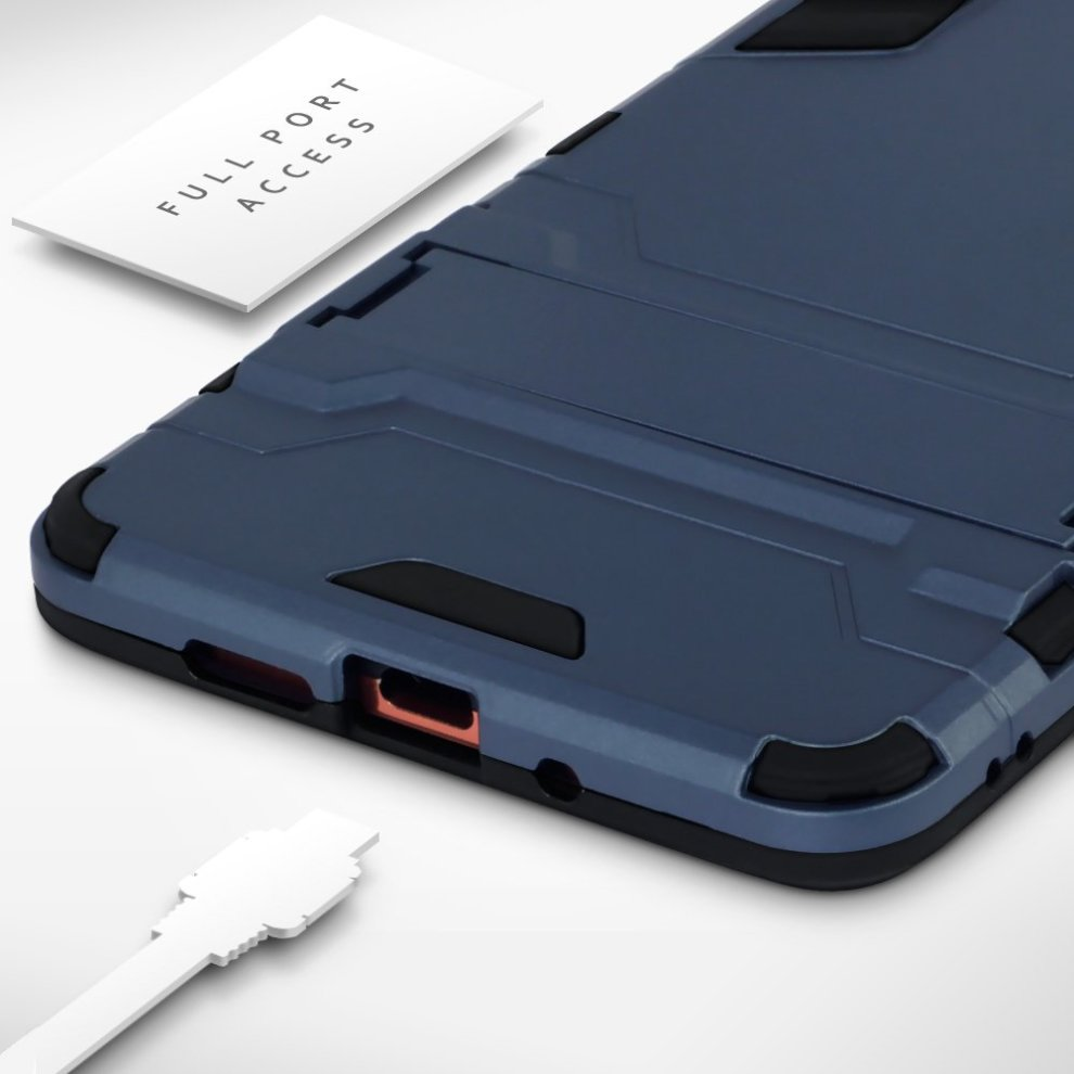 the latest 7ab0e 58dfa TERRAPIN Nokia 7 Plus Case Nokia 7 Plus Cover - Full Body Shock Resistant  Armour Case - High-Tech Look - Dual Layer - Kickstand - Dark Blue