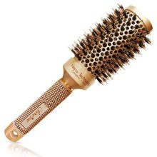 Best Blow Dry Round Hair Brush with Natural Boar Bristles for blowouts (2 inch)