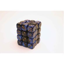 Chessex Gemini 12mm D6 Block - Black-Blue/Gold