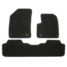 Car Mats for Citroen C5 (2008 - Now) Vehicle Specific Tailored - BLACK Needle punched Carpet