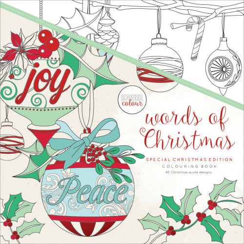 "KaiserColour Perfect Bound Coloring Book 9.75""X9.75""-Words Of Christmas"
