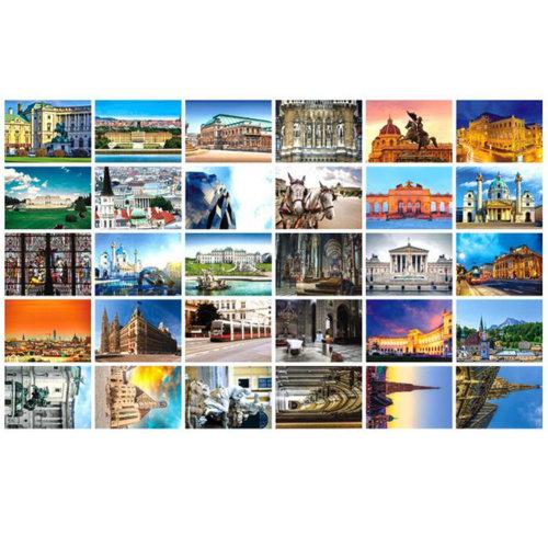 30 PCS 1 Set Collectible World's Beautiful Postcards, Music Shrine Vienna