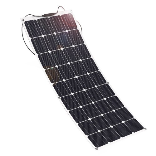 GIARIDE Solar Panel, 18V 12V 100W High-efficiency Monocrystalline Cell with MC4 Connectors Flexible Bendable Off-grid Solar Panel for 12 Volt...