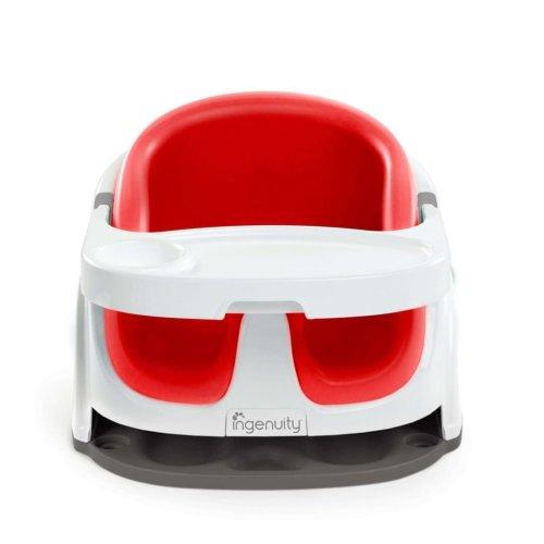 Ingenuity Baby Base 2-in-1 Booster Seat Poppy Red K10868