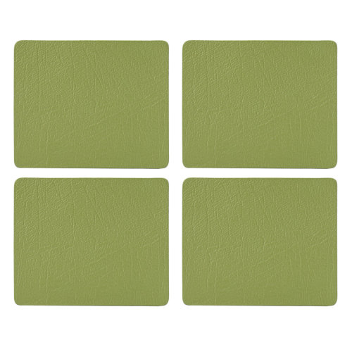English Tableware Co. Bonded Leather Coasters, Sage