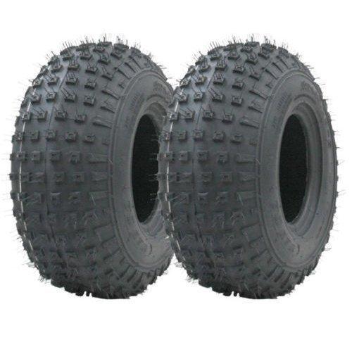 145/70-6 knobby ATV tyre Quad trailer wheels 75kg Wanda set of 2