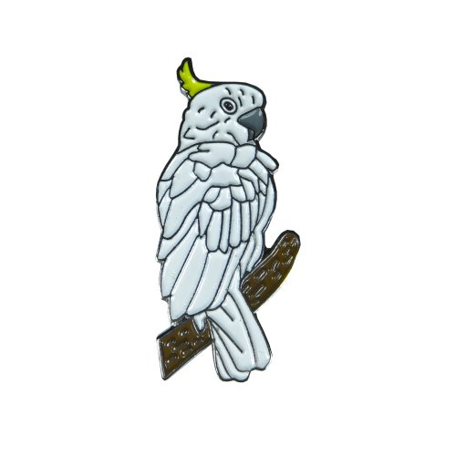 Cockatoo Bird Enamel Lapel Pin Badge