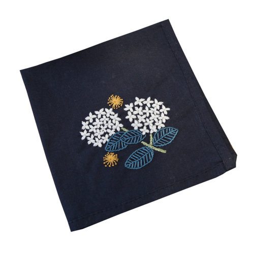 Handmade Embroidery Kit DIY Handkerchief with Pattern Birthday Gifts