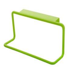 8 Pcs Plastic Single Lever Back Style Green Towel Rack Towel Bar