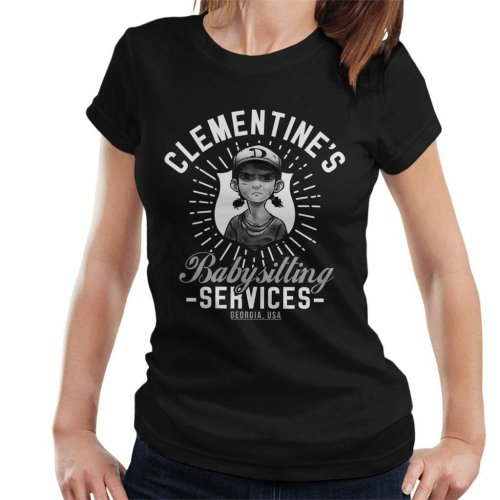 Clementines Babysitting Services Walking Dead Women's T-Shirt