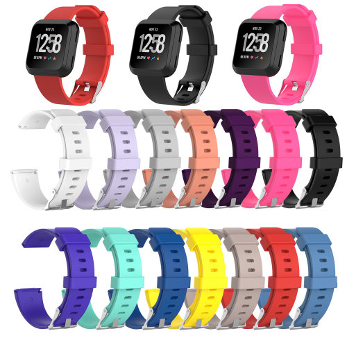 Replacement Watch Strap for FitBit Versa Small/Large Sport Wrist Soft TPE Band