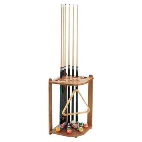 GLD Viper 52-0121 Oak 10 Cue Corner Cue Rack