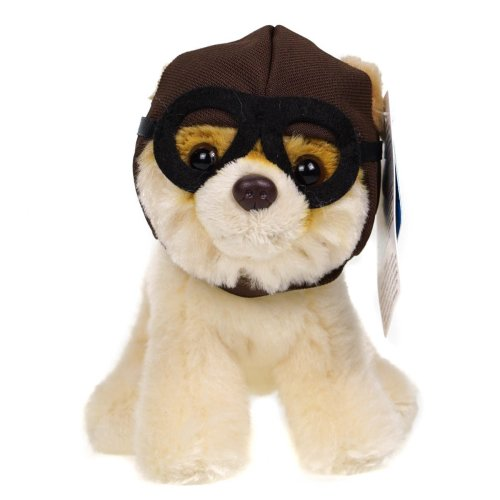 Cute Dog Cuddly Toy In Pilot Hat & Goggles