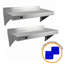 2 x KuKoo Stainless Steel Shelves 900mm x 300mm