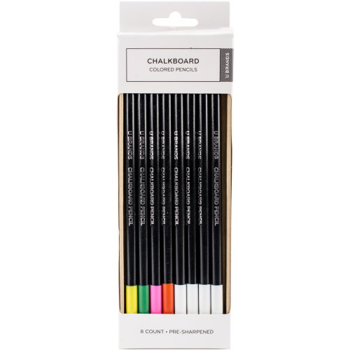 Chalkboard Colored Pencil-Assorted Colors, 6/Pkg