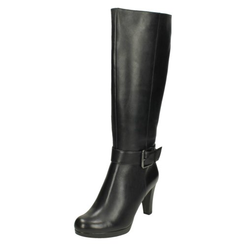 Sales promotion huge range of purchase original Ladies Clarks Knee High Boots Kendra Glaze - Black Leather - UK Size 5D -  EU Size 38 - US Size 7.5M
