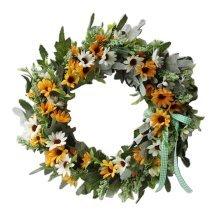 Artificial Wreath Hanging Floral Garland Door Wreath Wedding Decor #09