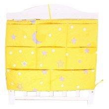 Star Pattern Baby Bedside Bag Multilayer Pouch Diaper Bag Storage Bag