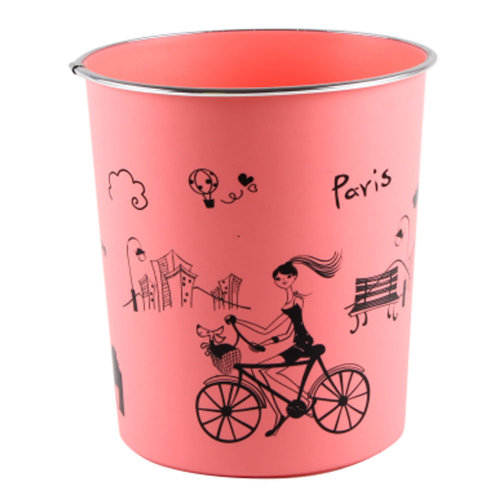 Stylish Cute Mini Trash Can Bin Desk Wastebasket for Home/Office, Pink