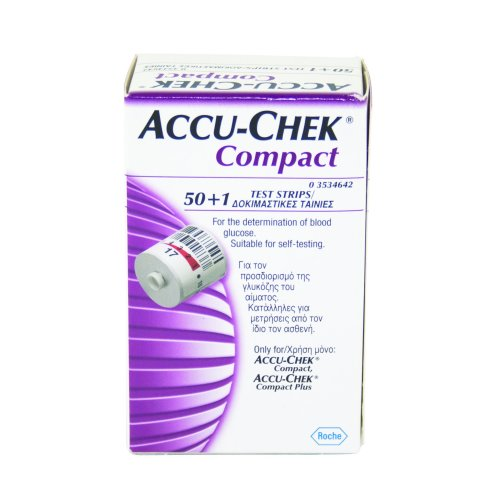 Accu-Chek Compact Plus Glucose Monitor Compact Test Strips Pack of 51