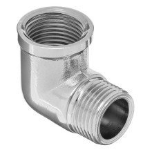 Chromed Brass Elbow 1/2 X 3/8 Bsp Male X Female Reducing Bush Thread Adapter