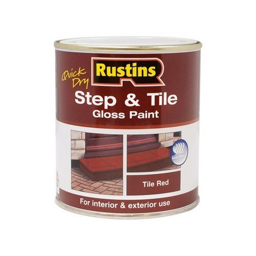 Rustins STRDW250 Quick Dry Step & Tile Paint Gloss Red 250ml