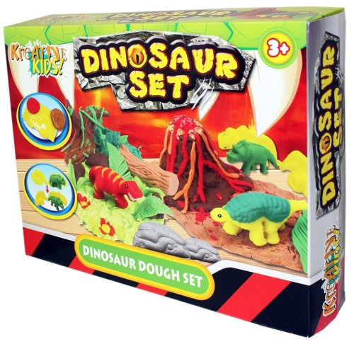 KandyToys Kids Dough Molding Modelling Dinosaur Play Set 3 years+