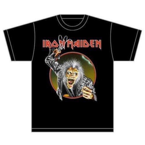 Rockoff Trade Men's Eddie Hook T-shirt, Black, Xx-large -  iron maiden t shirt official book souls trooper killers tour band logo mens