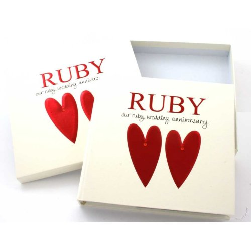 Ruby Wedding 40th Anniversary Photo Album and Keepsake box