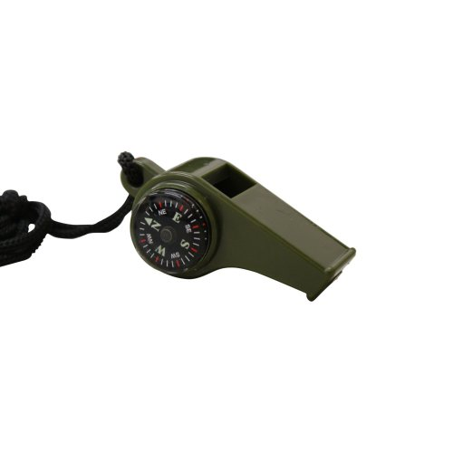 GI Survival Whistle with compass temperature gauge