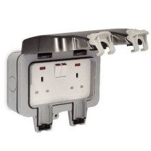 Masterplug WP22-01 Weatherproof Outdoor Switched Sockets  IP66