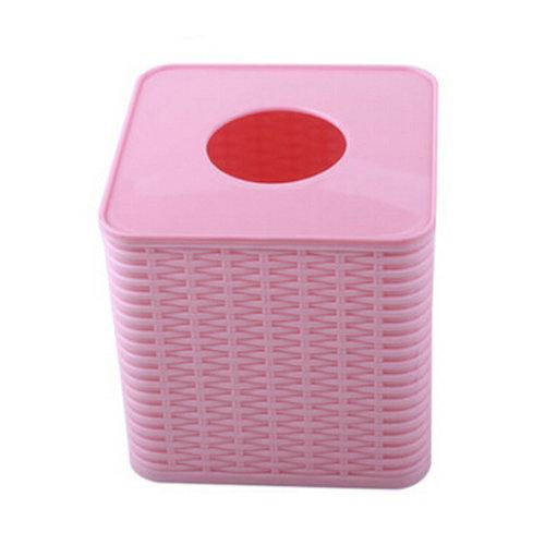 Environmental PP Creative Bath Products Tissue Box Holder,Pink