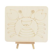 Set of 5 DIY Painting Wood Painting Early Education Tools Animals [Crab]