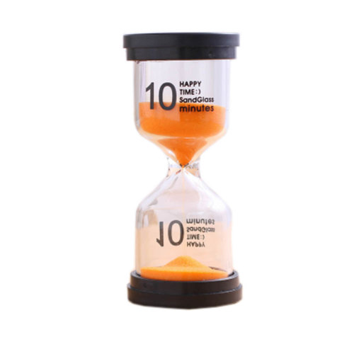 Colorful Sand Timer Hourglass Sandglass Small Ornaments Dropping Ueasily, 10 minutes + Orange