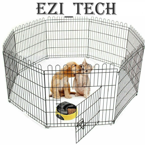 91cm Pet Playpen Dog Rabbit Puppy PlayPen Cage Folding Run Metal