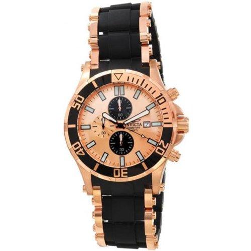 e4bae38e4e10d1 Invicta 1479 Rose Gold Tone Specialty Quartz Chronograph Black Rubber  Inserts on OnBuy