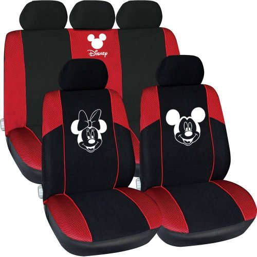 Disney Minnie And Mickey Mouse  Car Seat Cover Set