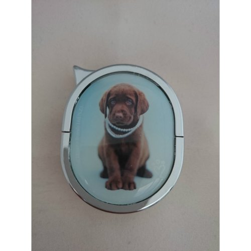 Brown Labrador Lighter - Oval Refillable Gas Lighter