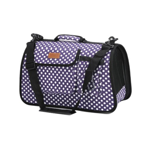 Pet Carrier Soft Sided Travel Bag for Small dogs & cats- Airline Approved, Purple #50