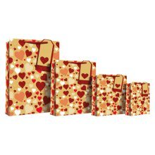 Eurowrap Glitter Hearts Perforated Bags -