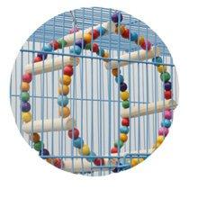Bird Toys--Diameter 6-Inch Handmade Circular Swing,Rainbow Bridge