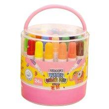 [C] 24 Colors Watercolor Drawing Pens Colored Marker Pens Set for Children