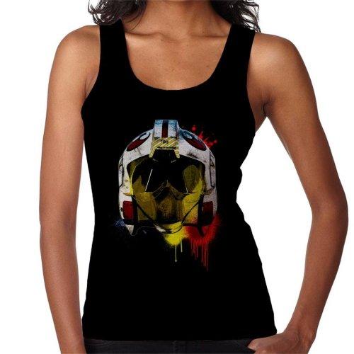 Original Stormtrooper Rebel Pilot Helmet Paint Splatter Women's Vest